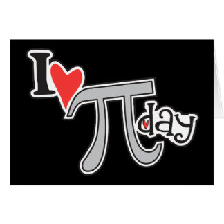 I heart Pi Day Card