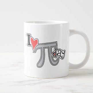I heart Pi Day Jumbo Mug