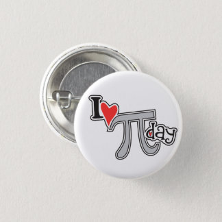I heart Pi Day Pi Symbol Button