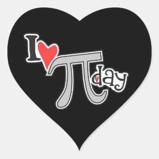 I heart Pi Day Heart Stickers