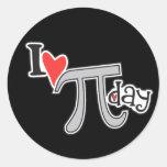 I heart Pi Day Sticker
