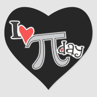 I heart Pi Day Stickers