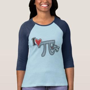 I Heart Pi Day Tshirt - Cool Pi Apparel Gift at Zazzle