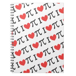 I heart Pi Spiral Note Books