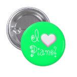 I heart Piano! (green) Buttons