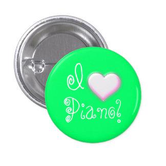 I heart Piano! (green) Pinback Button