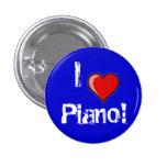 I heart Piano! Pinback Button