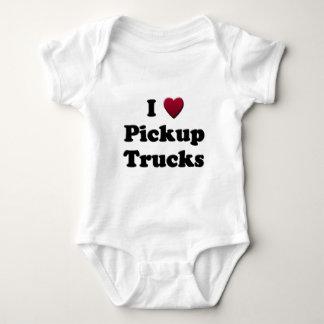 I Heart Pickup Trucks Baby Bodysuit