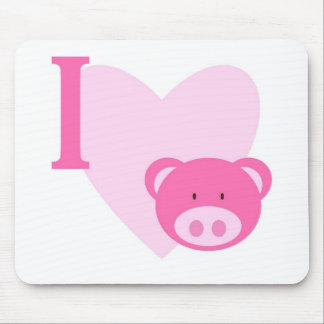 I Heart Pig Mousepad