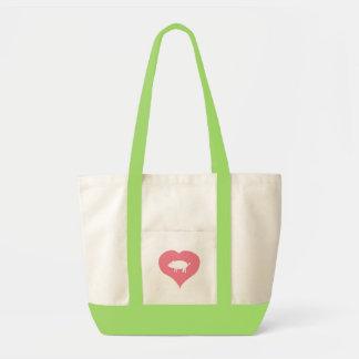 I Heart Pigs Bag