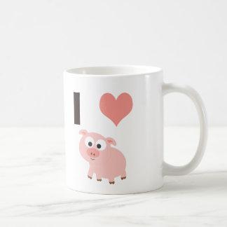 I heart pigs coffee mug