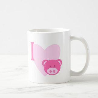 I Heart Pigs Mug