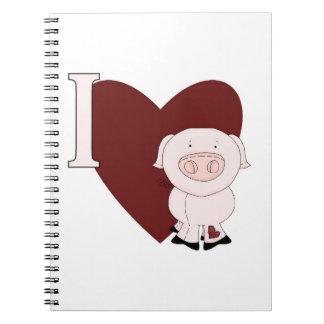 I Heart Pigs Notebook
