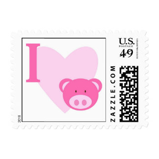I Heart Pigs Postage Stamps
