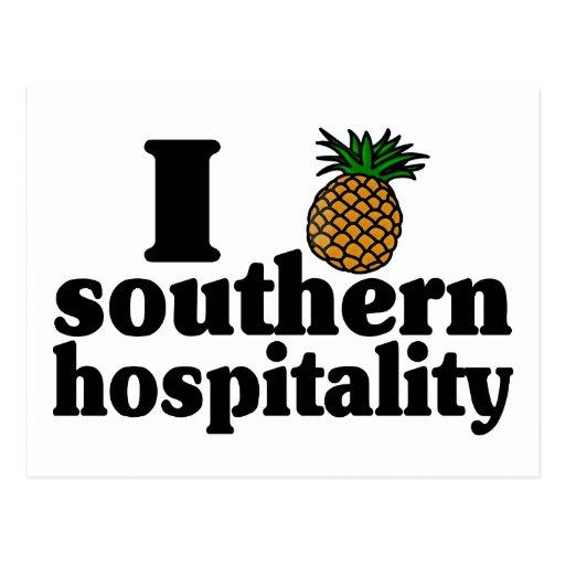 Southern Hospitality: I Heart (Pineapple) Southern Hospitality Postcard
