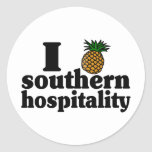 I Heart (Pineapple) Southern Hospitality Classic Round Sticker