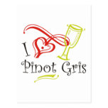 I Heart Pinot Gris Post Card