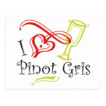 I Heart Pinot Gris Postcards