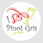 I Heart Pinot Gris Stickers