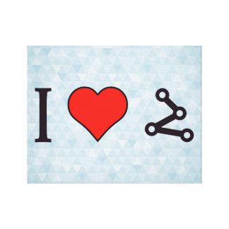 I Heart Pinpointing A Target Canvas Print