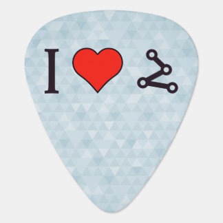 I Heart Pinpointing A Target Guitar Pick