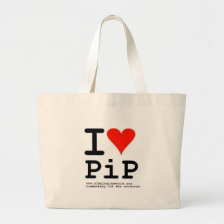 I Heart PiP Canvas Bags