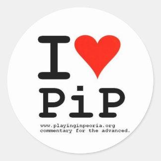I Heart PiP Round Sticker