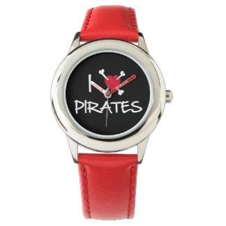 I Heart Pirates Crossbones watch
