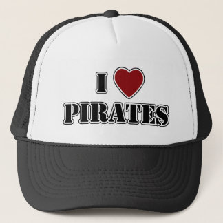 I Heart Pirates Trucker Hat