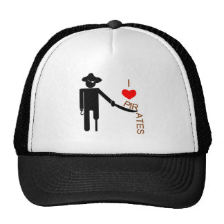 I Heart Pirates Trucker Hat