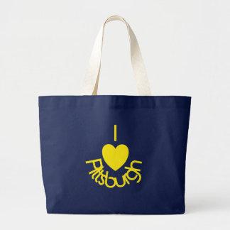 I Heart Pittsburgh Black 'n Gold Large Tote Bag