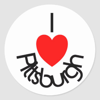 I Heart Pittsburgh Classic Round Sticker