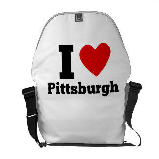 I Heart Pittsburgh Courier Bag