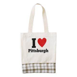 I Heart Pittsburgh Zazzle HEART Tote Bag