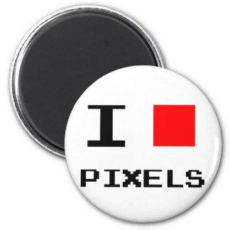 I Heart Pixels Magnet