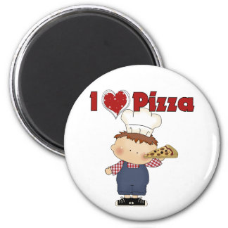 I Heart Pizza 2 Inch Round Magnet