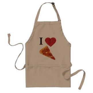 i heart pizza adult apron