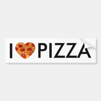 I Heart Pizza Bumper Sticker