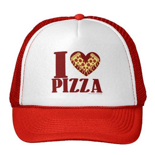 I heart pizza cap mesh hat