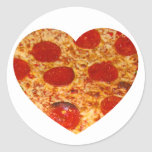 I Heart Pizza Classic Round Sticker