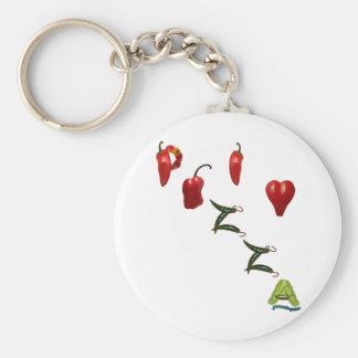 I Heart Pizza Keychain