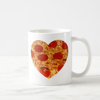 I Heart Pizza Classic White Coffee Mug