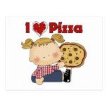 I Heart Pizza Postcard