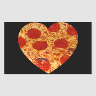 I Heart Pizza Rectangular Sticker