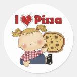 I Heart Pizza Round Stickers