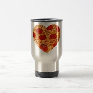 I Heart Pizza Travel Mug