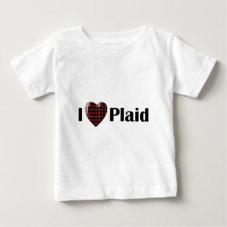 I Heart Plaid Baby T-Shirt