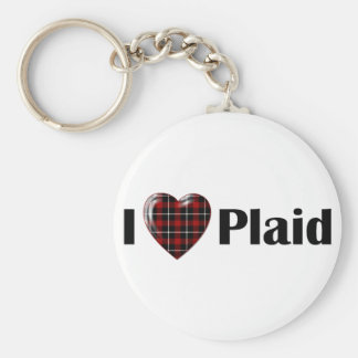 I Heart Plaid Key Chains