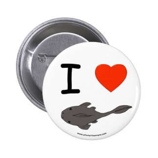 I Heart Plecostomuses Button