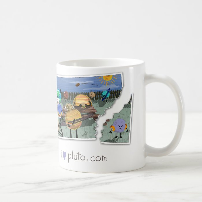 i heart pluto.com - family bbq coffee mug